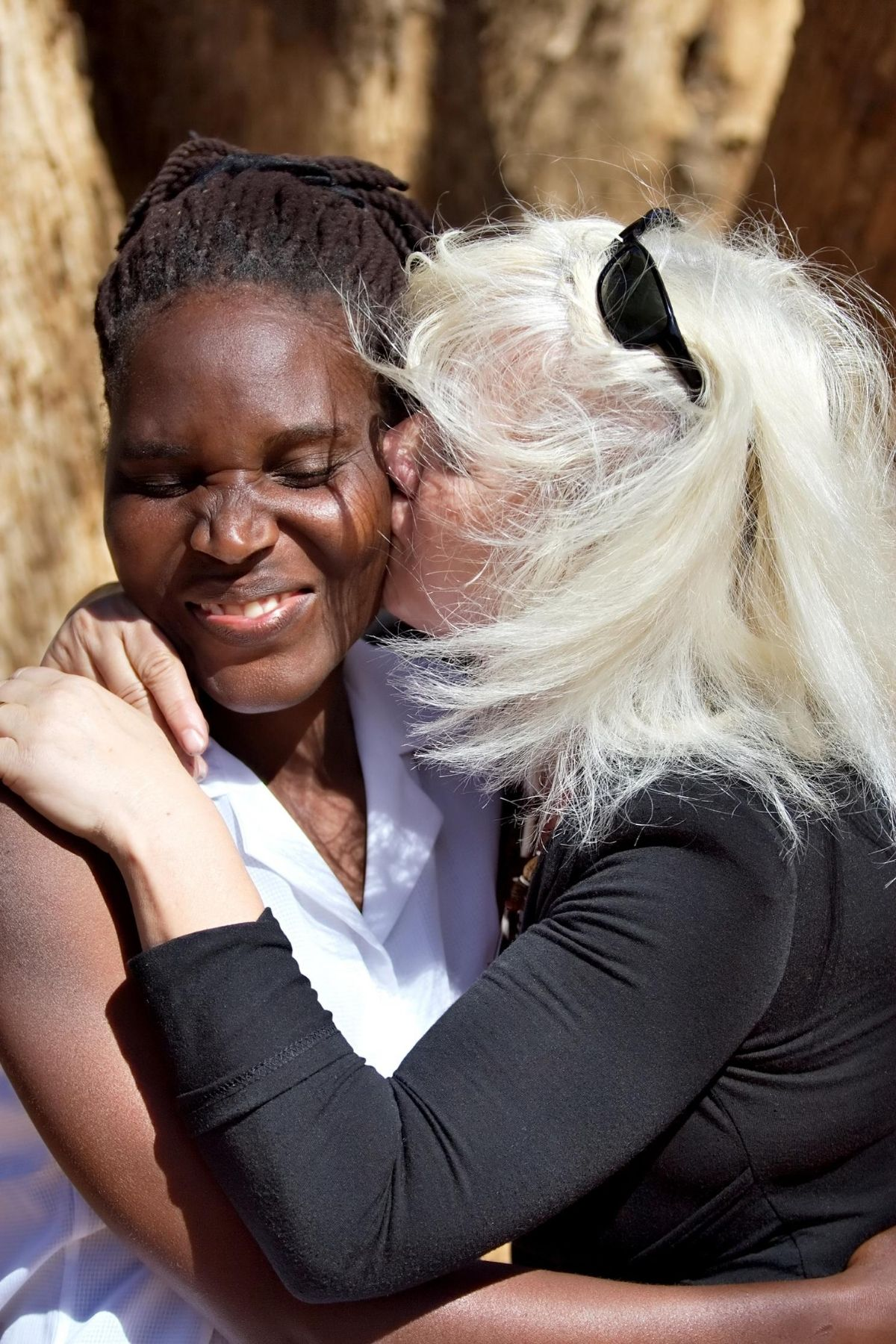lesbian couple with an age and racial difference