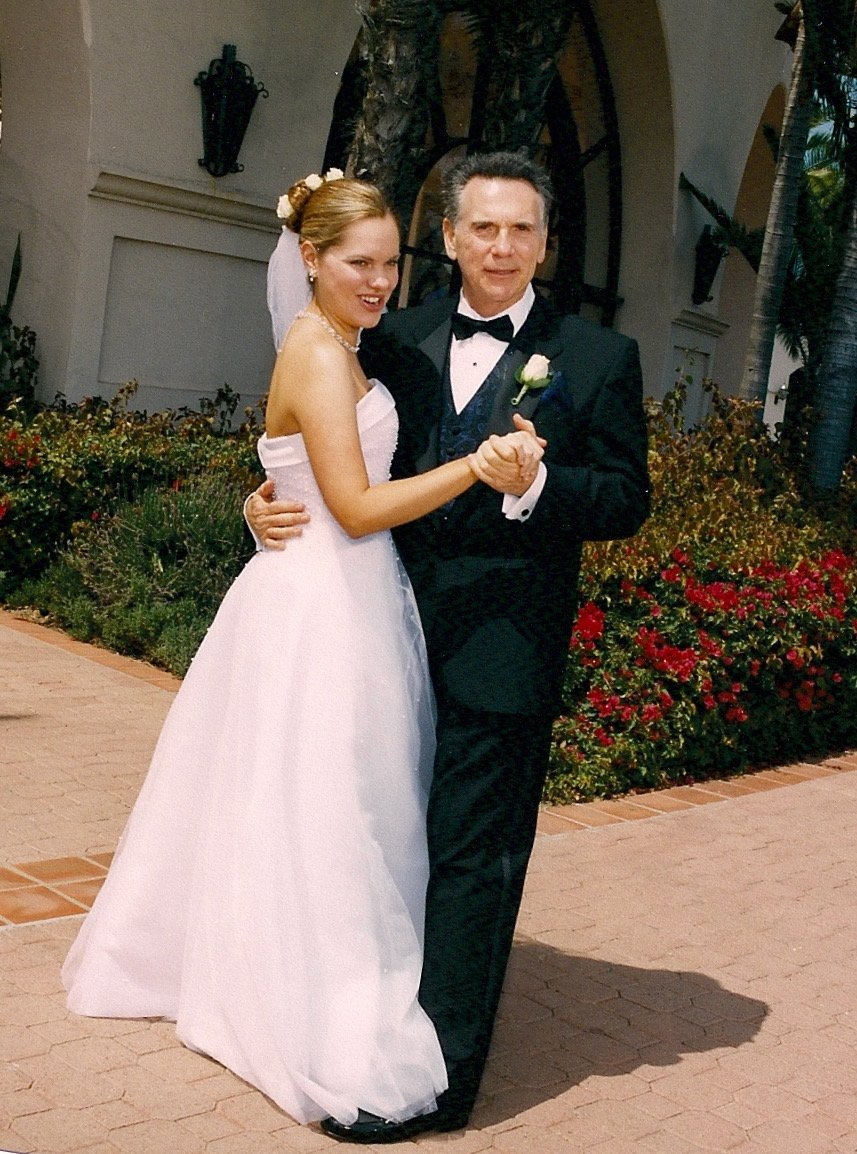 carrie and alan at wedding
